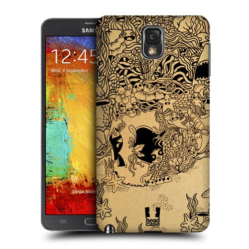 Head Case Designs Underwater Doodle Skull Protective Snap-on Hard Back Case Cover for Samsung Galaxy Note 3 N9000 N9002 N9005