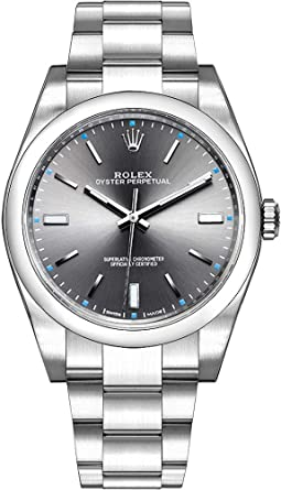 21be84134213 Image Unavailable. Image not available for. Color  Rolex Oyster Perpetual  114300 Dark Rhodium Dial Mens Watch