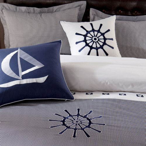 Fadfay Fashion Luxury Queen Size Bedding Set Christmas Bedding Embroidery Bedding Set Sailing Boat Bedding Holiday Bedding Sets