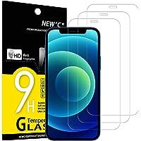 """NEW'C 3-pack skärmskydd med iPhone 12, iPhone 12 Pro (6.1"""") – Härdat glas HD klar 9H hårdhet bubbelfritt"""