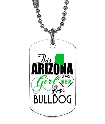 Amazon Com Atlaneck Lovely Bulldog Necklaces I Am An Arizona Girl