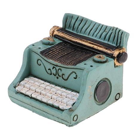 Amazon.com: Prettyia 1:12 Dollhouse Miniature Vintage Resin Typewriter Handicrafts Model Decoration Green: Toys & Games