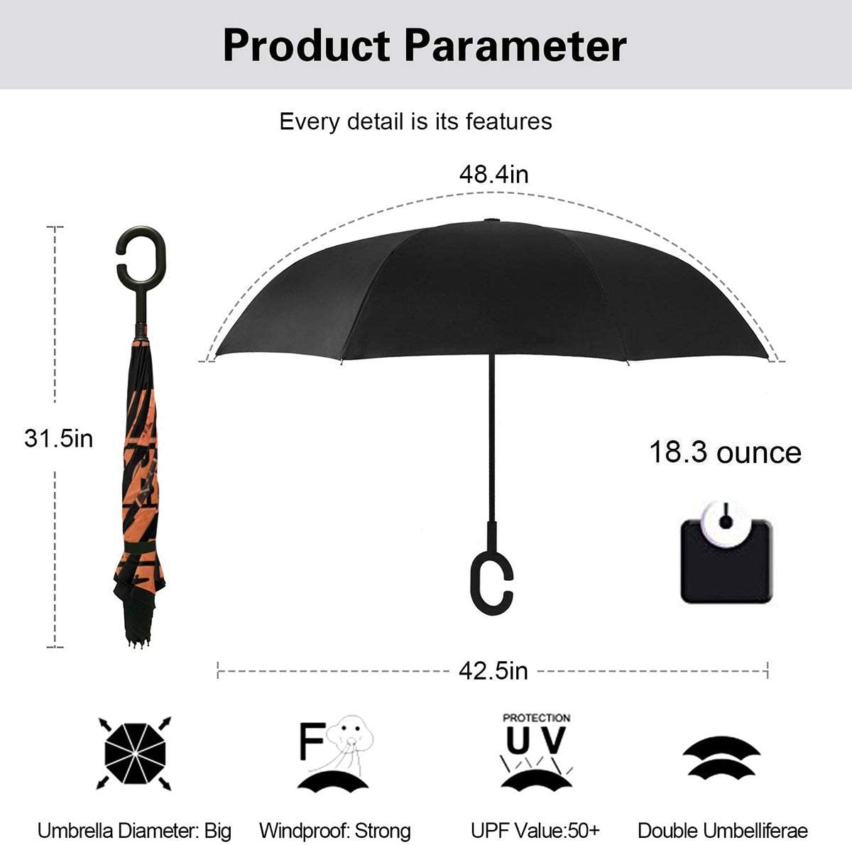 NOT Dukes of Hazzard General Lee Automatic Tri-fold Umbrella