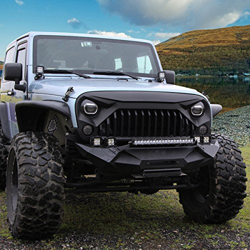 U MAX Front Matte Black Gladiator Grid Grill For Jeep Wrangler JK 2007 2017  (Fury Monster): Amazon.ca: Tools U0026 Home Improvement