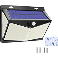 Solar Lights Outdoor, Waterproof Night Lights Wireless Motion Sensor LED Light 3 Modes 270° Wide Angle Lamp for Deck…