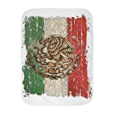 Royal Lion Baby Blanket White Mexican Flag Mexico Grunge