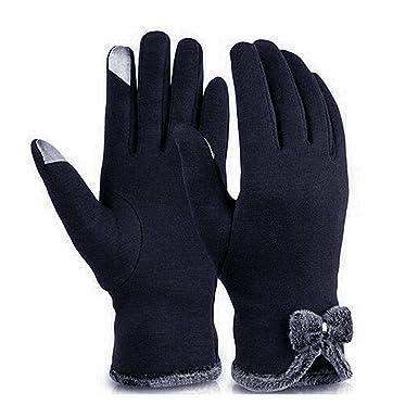 Oplon Gants d hiver chauds doublés d écran tactile de gants de velours d arc  de femmes Packs bonnet, écharpe et gants  Amazon.fr  Vêtements et  accessoires 71cae0e3480
