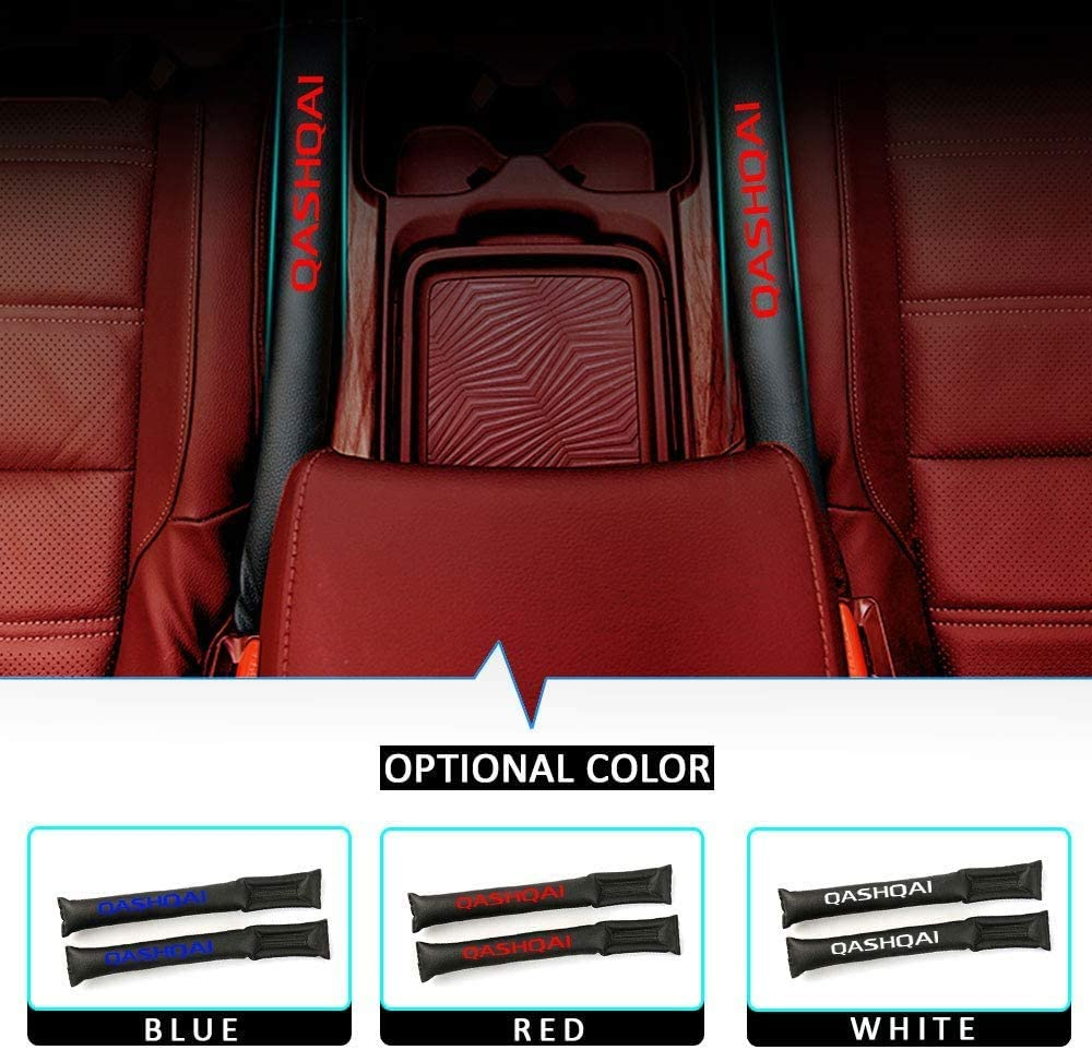Prevent items from falling Gap Leak-proof Strip for Car ZLYCZW 2Pcs PU Leather Car Seat Crevice Gap Filler Pad Fit for Nissan Qashqai