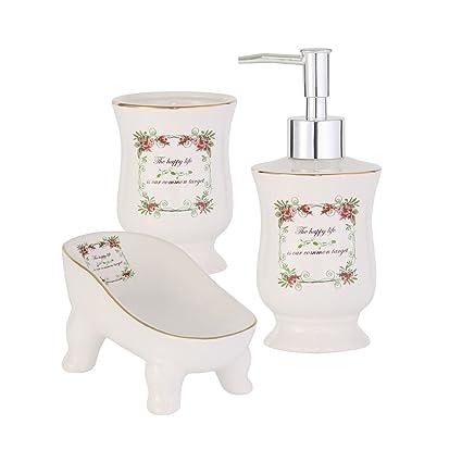 Axentia accesorios de Cannes de utensilios de baño Set de baño dispensador  de jabón 9ff9e8bedbb5