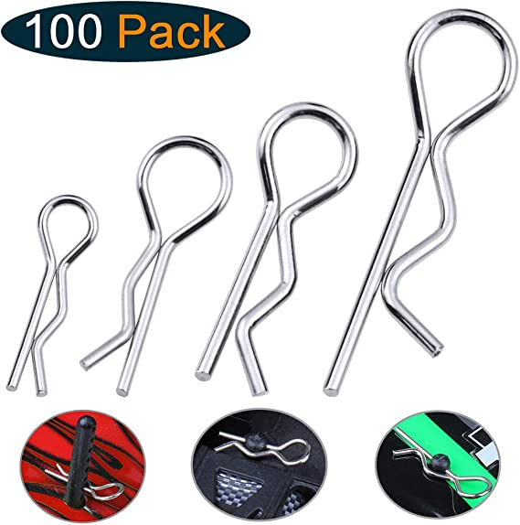 Pack of 10 90 degree RC Body Clips Truck Buggy Crawler Shell R Pins UK STOCK