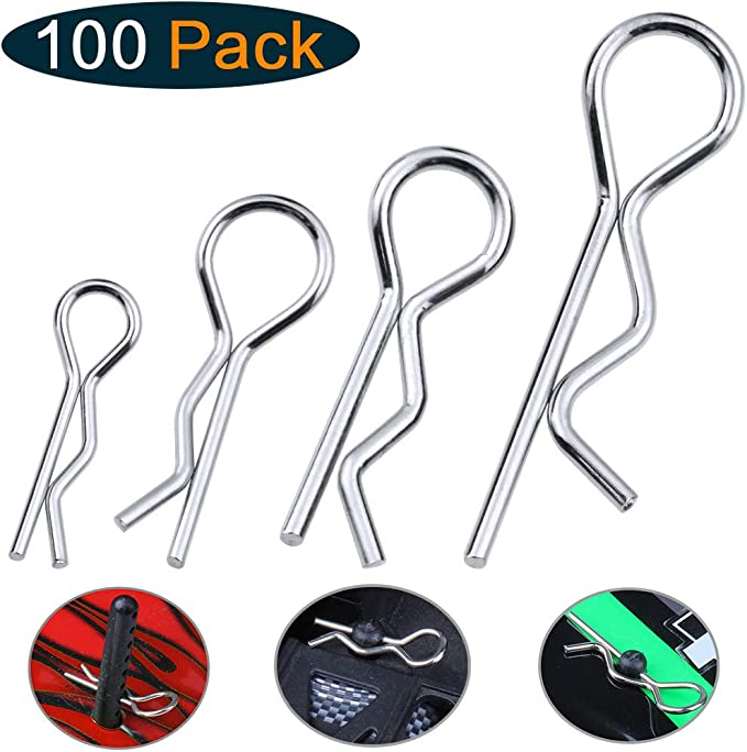 Shell Body Clip Rope Car Shell Clips for 1//10 RC Car V GEBY Car Body Shell Clip Pins