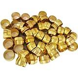 Brass Compression Fitting Ferrule Sleeve,1/2' Tube OD (50pcs)