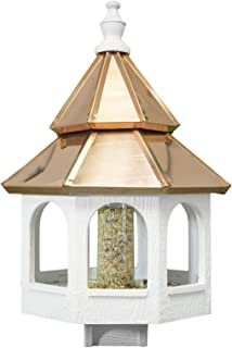 product image for Saving Shepherd 27 Large 2-Tier Copper TOP Bird Feeder - Amish Handmade Post Mount Gazebo