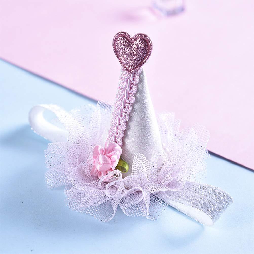 Amosfun - Gorro de cumpleaños para niños, diseño de corazón ...