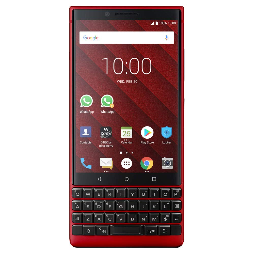 BlackBerry KEY2 Red Unlocked Android Smartphone (AT&T/T-Mobile) 4G LTE, 128GB