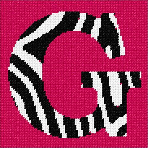 pepita Letter G Zebra Needlepoint Canvas