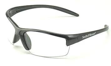 smith wesson 3016306 equalizer safety glasses gun metal frame clear lens 1
