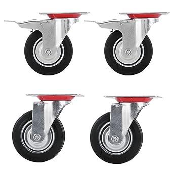 4 pieza Ø125 mm 5 ruedas transporte, dirigibles playa cesta ruedas ruedas ruedas cesta