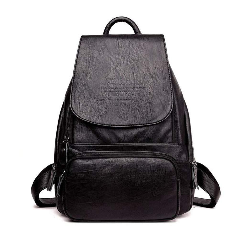 Backpack bag fashion female bag casual black