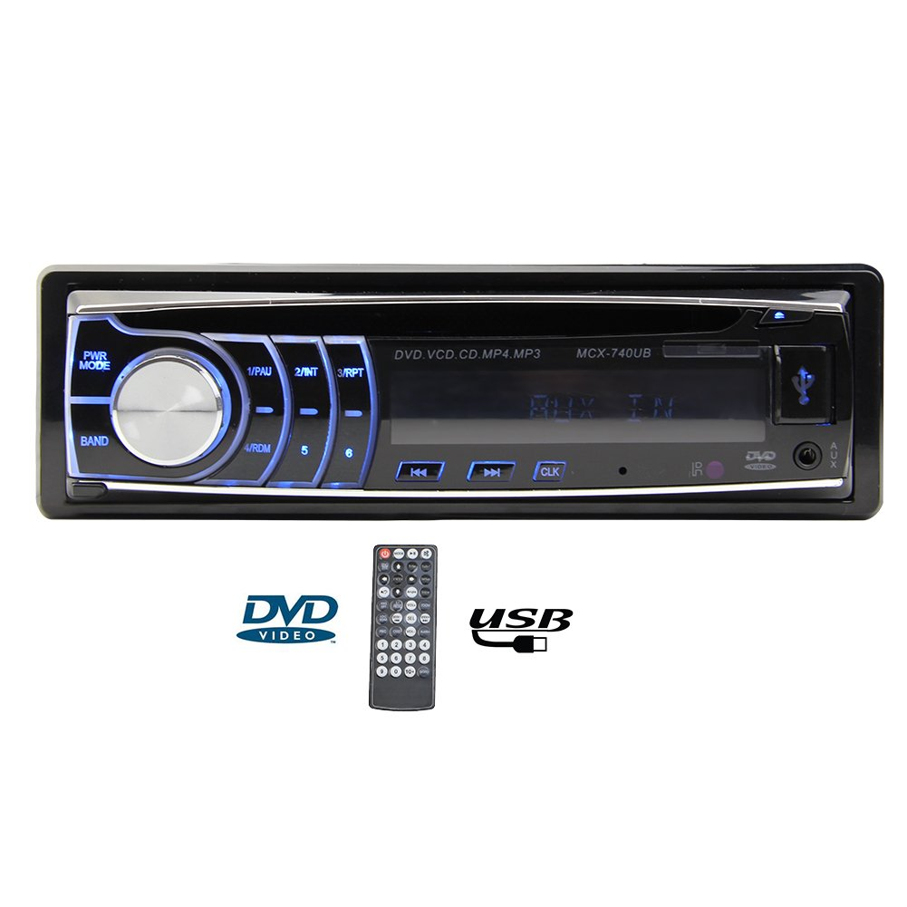 Single din car radio with in dash FM Receiver audio stereo Detachable Panel support CD DVD MP3 Player USB/SD Multimedia System Headunit autoradio +remote control