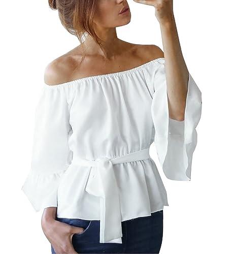 Yieune – Camisas – Manga Larga – para mujer