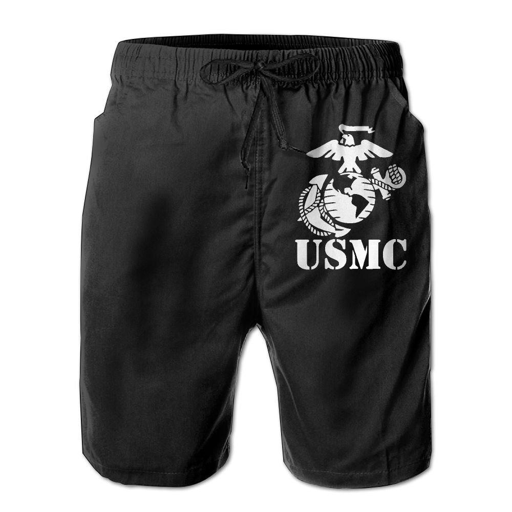 Eagle Globe Anchor USMC Marine Corps Mens Summer Boardshorts Casual Swim Short