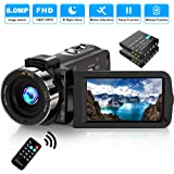 Video Camera Camcorder FHD 1080P 30FPS 36MP IR Night Vision YouTube Vlogging Camera Recorder 3.0'' 270 Degree Rotation…