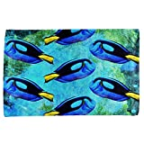 Blue Tang Fish Tropical Splatter All Over Hand Towel Multi Standard One Size