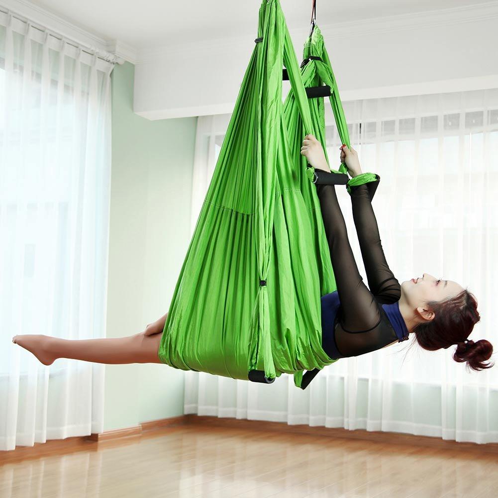 LGF Helmet Yoga Hamaca Anti-Gravedad Yoga Swing Sling Antena ...
