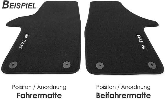 Kh Teile Fußmatten Passend Für Caddy 3 4 Premium Velours Qualität 2 Teilig Vorn Bestickung In Blau Mit Wunschtext Namen Werbung Uvm Auto