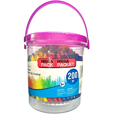 Crayons For Kids with Mega Bucket by Creatology, 200 Count: Office Products