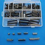 Raogoodcx 110pcs 2.54mm Pitch DIP IC Sockets Type Adaptor Set 6,8,14,16,18,24,28,40 Pin
