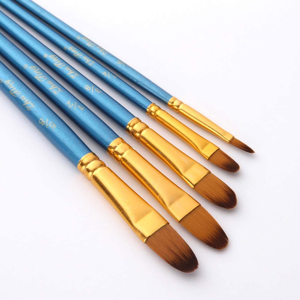 Juego de 5 Pinceles de Pintura de Nailon para Acuarela acr/ílica y Pintura al /óleo por Crafts 1# YUnnuopromi