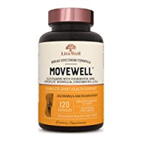 Glucosamine Chondroitin with MSM, Hyaluronic Acid, and More - MoveWell by LiveWell...