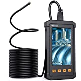 Inspection Camera with 4.3inch LCD Screen, 5.5MM Digital Industrial Endoscope 1080P HD Handheld Endoscope Camera with 16.5FT