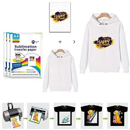 Transferencia de camiseta, tamaño A4,Easy Make Papel de ...