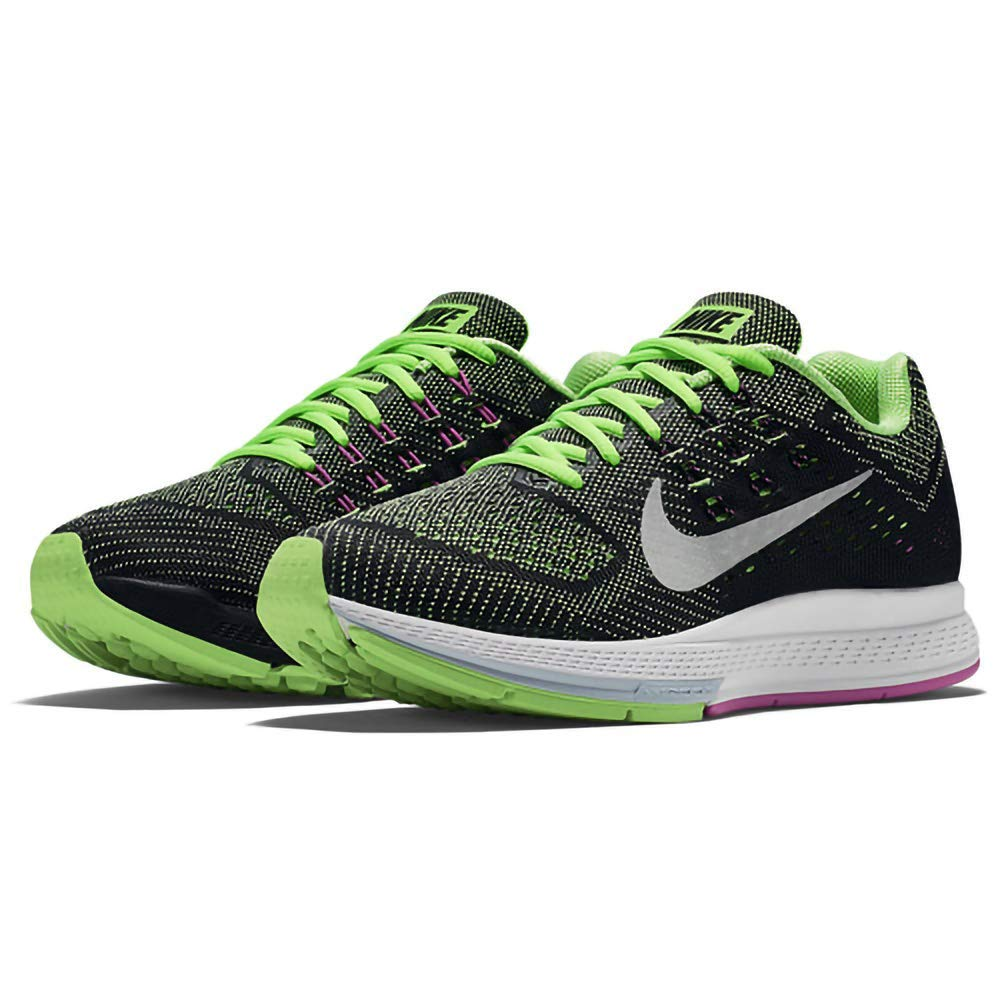 Nike Zoom Structure 18 Damen Damen Damen Laufschuhe Grün (Flash Lime Metallic Silber-Fuchsia Flash) 37.5 EU fe1908