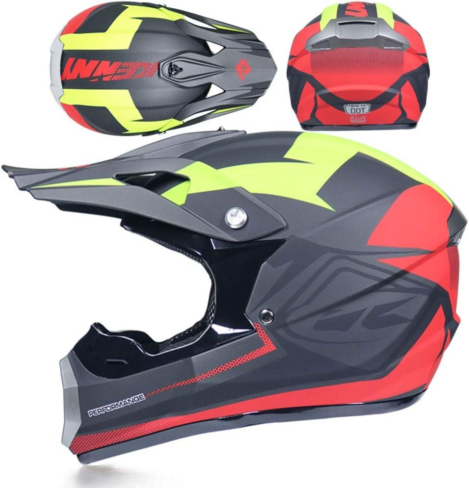 con oculari//Guanti//Maschera Casco Moto ATV ADV UTV Casco Moto Cross Country D T Endurance Certificazione di Sicurezza O