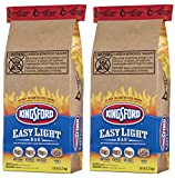 Kingsford Charcoal Briquets, Easy Light Bag (Single-Use bag), Two 2.8 lb Bags