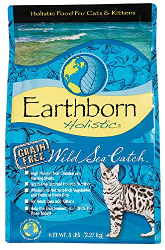 Earthborn Holistic Wild Sea Catch Grain-Free Dry Cat Food, 5