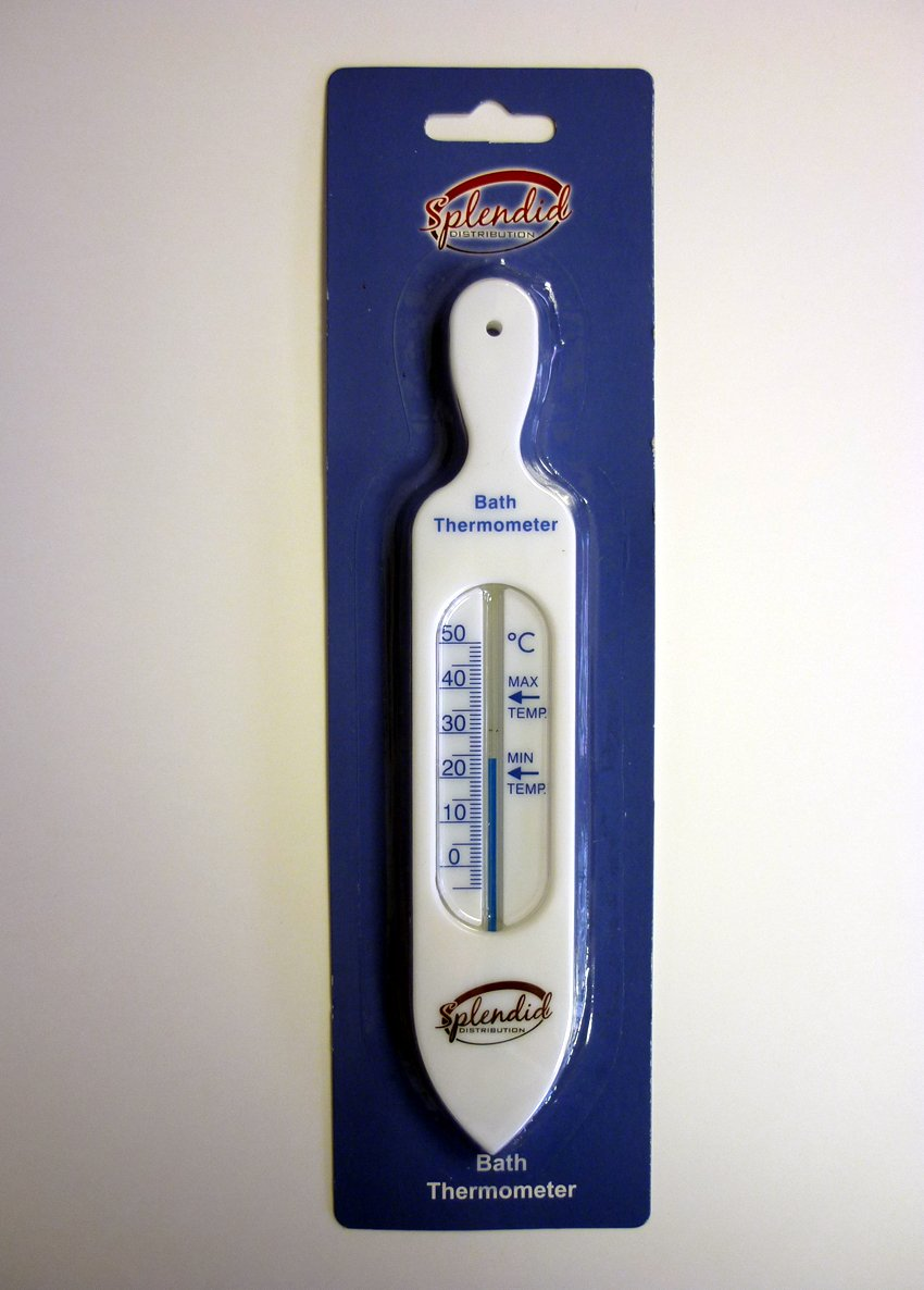 Check the water is not too hot! WHITE BATH THERMOMETER - Ideal for babies or the elderly