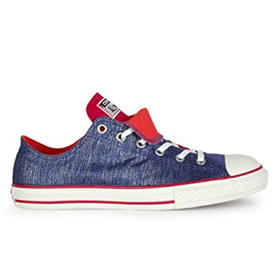 6ba0b1f343d0 Junior Converse Chuck Taylor Double Tongue Periwinkle Trainers   Amazon.co.uk  Shoes   Bags