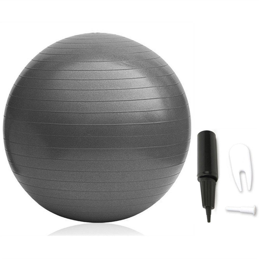 VIVINATURE Inflatable Fitness Ball Anti-Slip Stability Ball 75cm Diameter 200kg Weight Capacity Yoga Ball Premium Exercise Ball Swiss Ball Pump (Black)