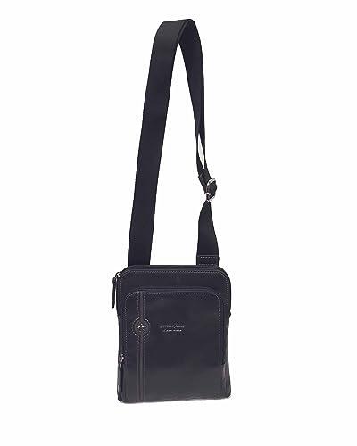 Polo bolso bandolera piel hombre negro pequeño bh380: Amazon.es ...