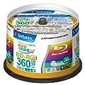 Verbatim Blu-ray Disc 50 pcs Spindle - 50GB 4X BD-R DL - Inkjet Printable by Verbatim