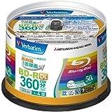 三菱化学メディア Verbatim 録画用BD-R VBR260YP50V1 (日本製/2層 360分/1-4倍速/スピンドルケース 50枚)