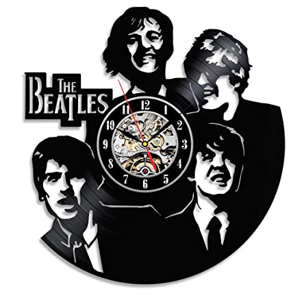 Unique The Beatles Wall Clock Made With Vinyl Record