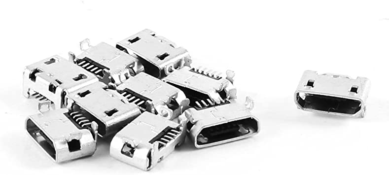 10 Pcs type B micro usb 5 pin female charger mount jack connector port socket ZV