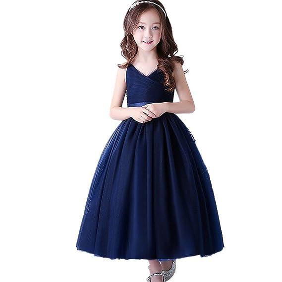 9d7fb36ad31c0 RoRykon 子供ドレス 子供服 女の子 ワンピース ロングドレス 光沢のある 舞台衣装 キッズドレス