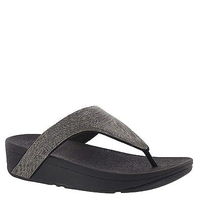 ccba59caf FitFlop Lottie Shimmermesh Women s Sandal 5 B(M) US Black